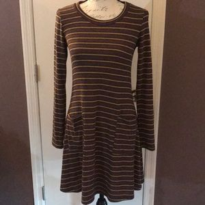 EUC Gilli Striped T-shirt Dress with Front Pockets
